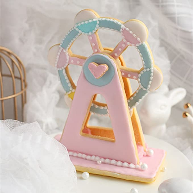 Amazon Kalttoyi 3 Pcs Ferris Wheel Cake Mould Cookie Cutters