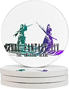 Final Fantasy Game Funny Coasters, Multi-Purpose Diatomite Coasters, Protect Furniture from Water Marks Scratch and Damage(1pcs-6pcs)