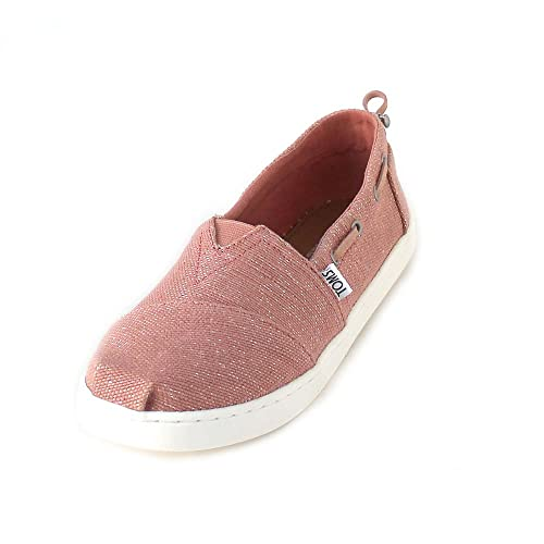 Toms Bimini Canvas Drizzle Grey Rose Gold Foil Polka Dot Ankle-High Canvas Flat Shoe - 4M JxxvL