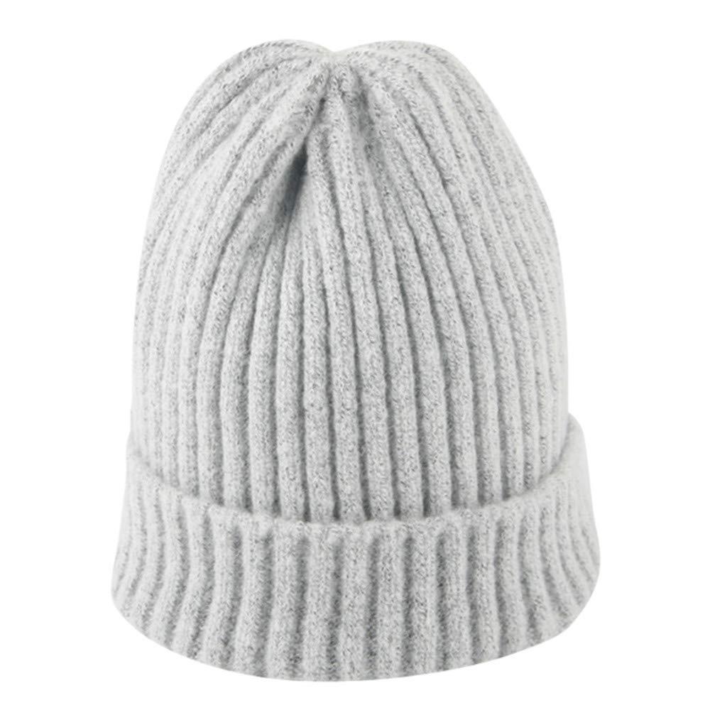 Inkach Baby Winter Warm Caps   Kids Crochet Knit Beanie Hats, Toddler Boys Girls Ski Cap (Gray)