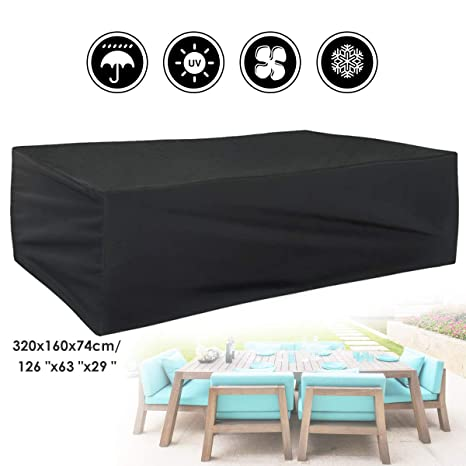 Beau Amazon.com : GEMITTO Rectangular Patio Table Cover Water Resistant Chair  Set Cover Durable Outdoor Furniture Cover For Garden : Garden U0026 Outdoor