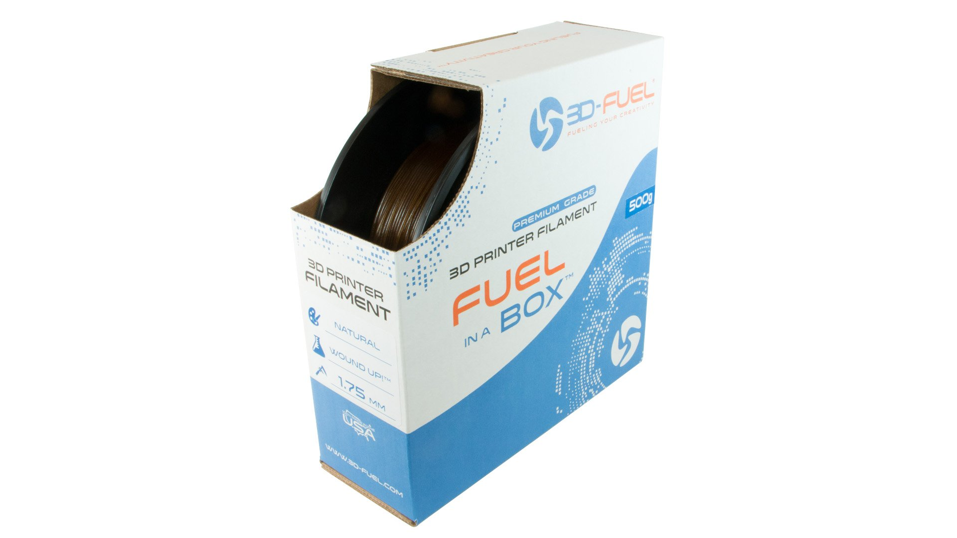 3DFuel 3DFuel Wound-Up Coffee Based 3D Filament 500g spool 1.75mm +or- 0.05mm Made In USA