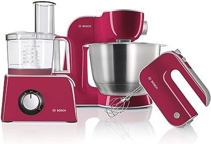 Bosch MCM42024 - Procesador de alimentos con accesorios, 800 W, Color rojo: Amazon.es: Hogar