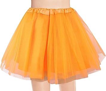 Ksnrang Tutu Falda de Mujer Falda de Tul 50s Short Ballet 3 Capas ...