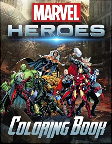 amazoncom marvel super heroes coloring book heroes unite avengers guardians of the galaxy deadpool x men wolverine captain america doctor strange - Marvel Coloring Book