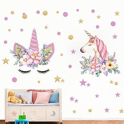 Amazon.com: Angel Unicorn Decal, Horse Head Unicorn Wall Stickers ...