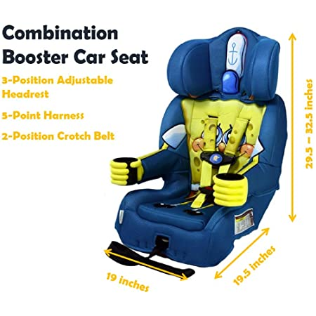 KidsEmbrace 2-in-1 Harness Booster Car Seat, Nickelodeon SpongeBob