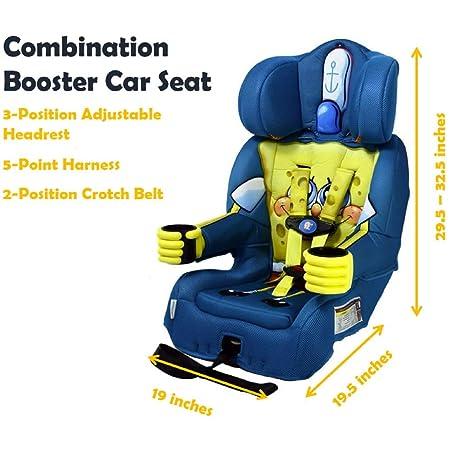 KidsEmbrace 2-in-1 Harness Booster Car Seat, Nickelodeon SpongeBob