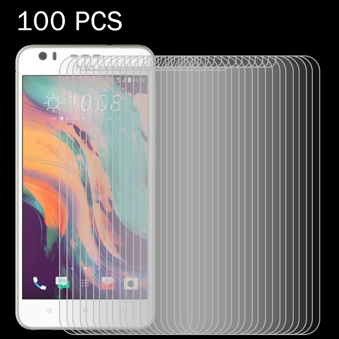 Ruanmaoshi Mobile Accessory 100 PCS for HTC Desire 10 Lifestyle 0.26mm 9H Surface Hardness 2.5D Explosion-Proof Tempered Glass Screen Film Phone Tempered Glass Film
