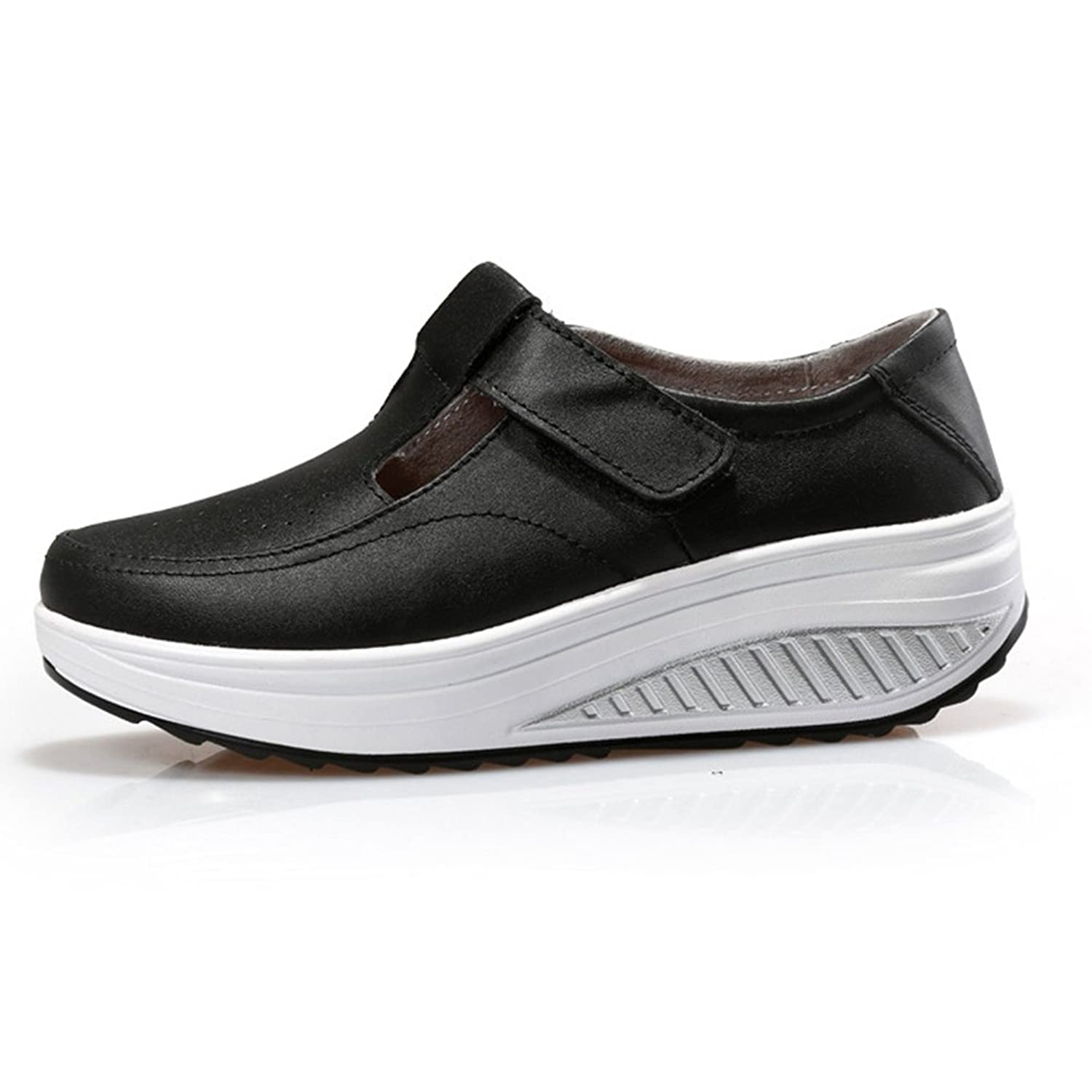 Women's Fashion Waking Shoes Canvas Slip On Breathable Thick Base Travel Shoes By Btrada