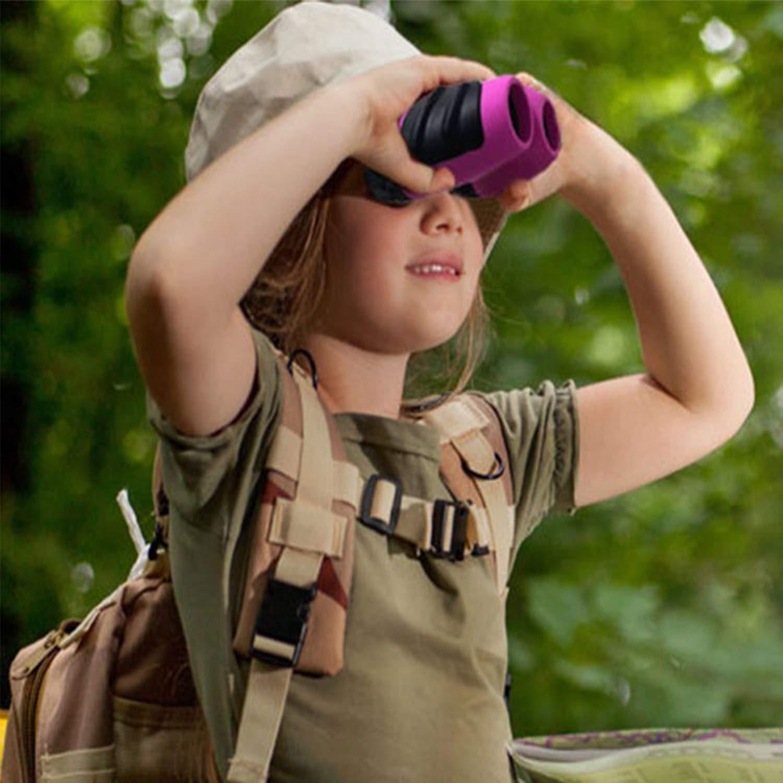 BIBOYELF Binoculars Juguete 4-11 A/ños De Edad Regalo De Vacaciones,Regalo De Ni/ña Adolescente,Verde