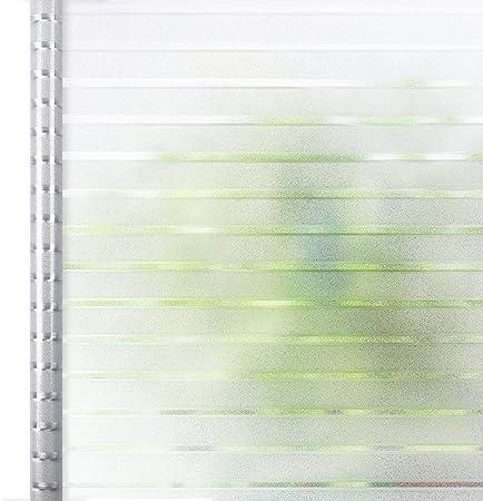 Homein Vinilo Ventana Cristal Electricida Vinilos Deslustrado Estática, 90 * 200cm, Película Autoadhesivo Sin Cola Lámina Banda Blanca Facíl Desmontar y Reutilizar de Baño Cocina Oficina Anti UV: Amazon.es: Hogar