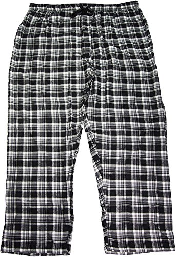 Hanes Men`s Flannel Pants with Comfort Flex® Waistband,02006/02006X,5XL (Plaid Tall Flannel Pants)