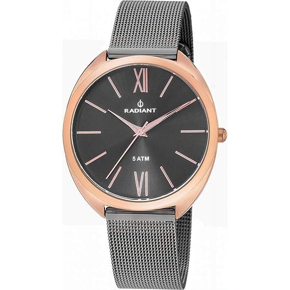 Reloj Radiant para Mujer con Correa Negra y Pantalla en Negro RA420602: Amazon.es: Relojes