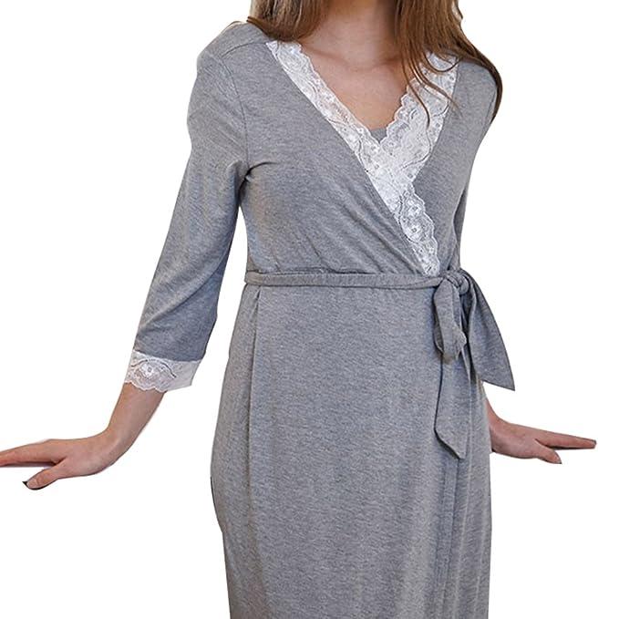 Zhien Mujeres Vestido de Maternidad Mujeres Embarazadas Vestido de Lactancia Materna Vestido de Lactancia Vestido de