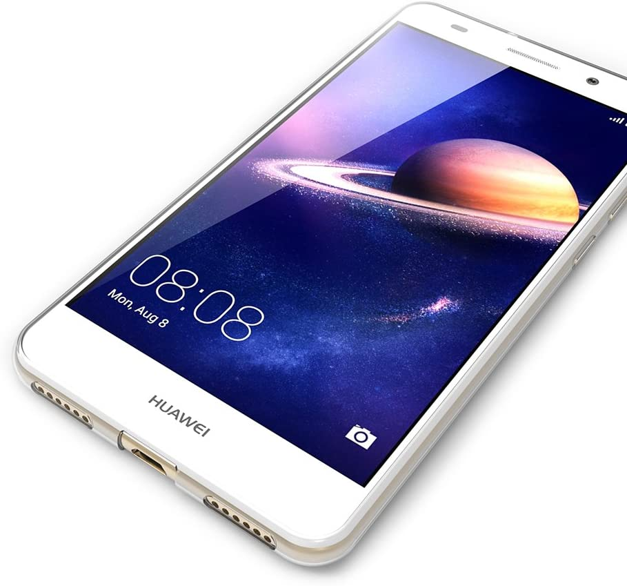 AICEK Cover per Huawei Y6 II, Cover Huawei Y6 II Silicone Case Molle di TPU Trasparente Sottile Custodia per Huawei Honor 5A