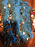 Black Belly Dance Skirt With Gold Coins (Great Gift Idea)