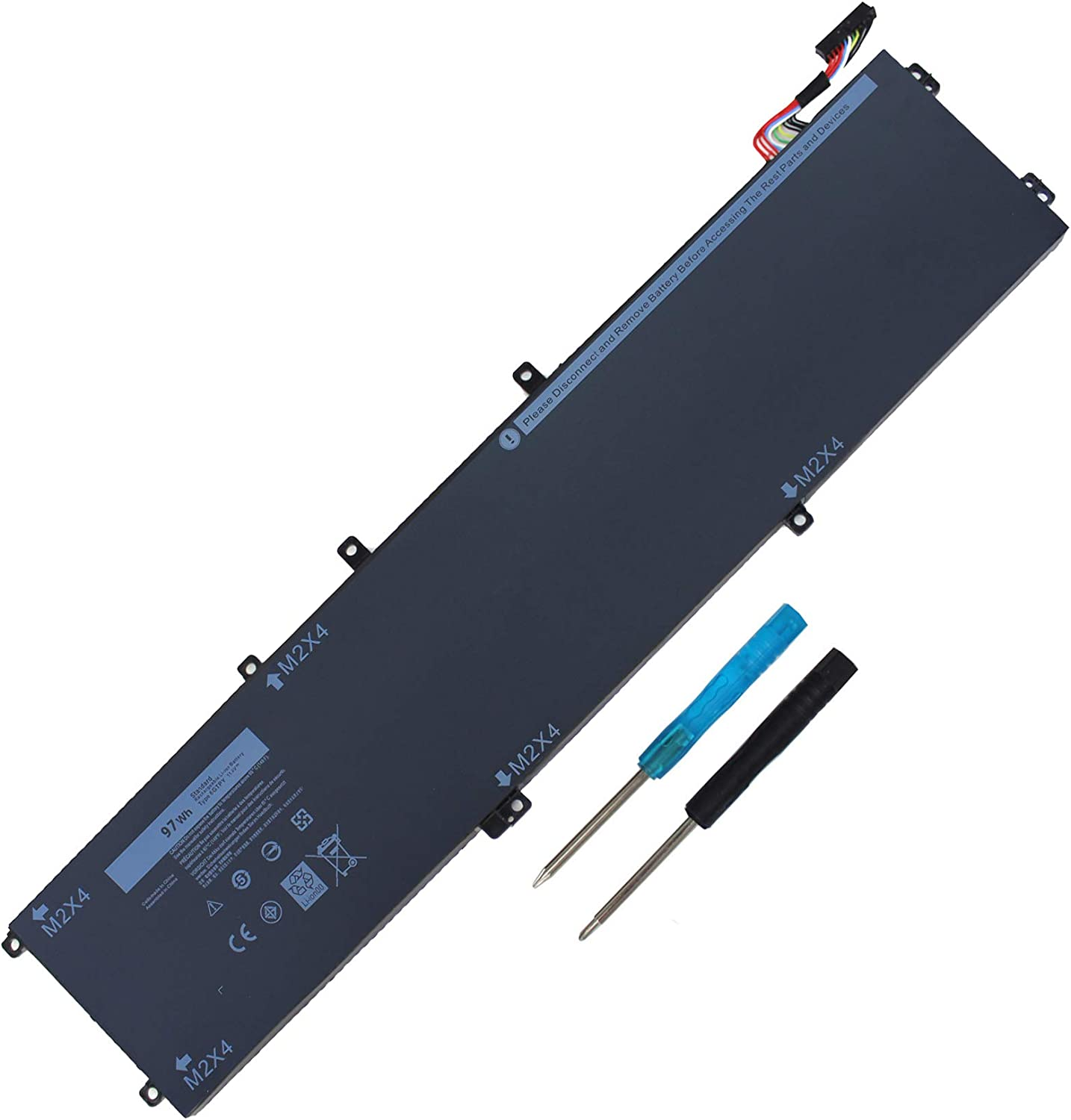 97WH 6GTPY Laptop Battery for Dell XPS 15 9550 9560 9570 Precision 5520 5530 5510 M5520 Workstation Series Notebook 5XJ28 5D91C - 12 Month Warranty