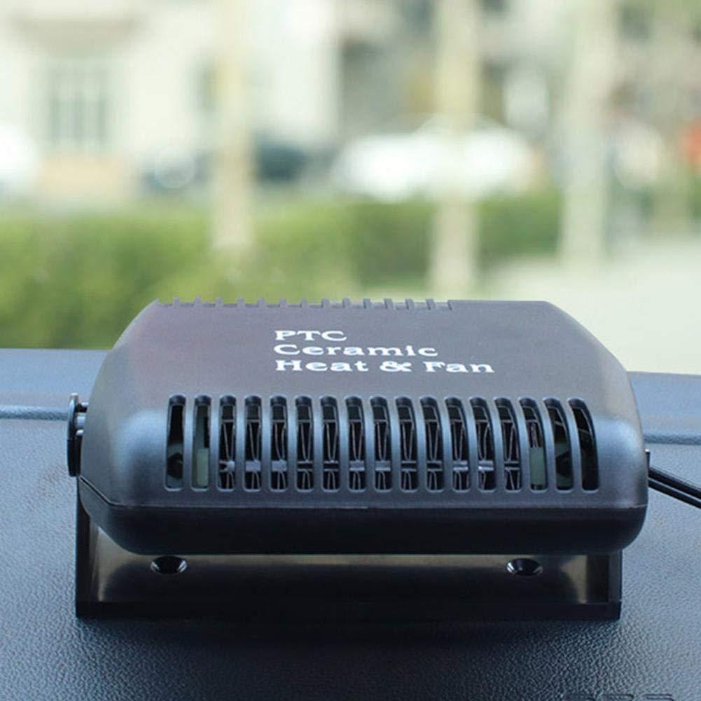 Temperatureinstellung Die Rotierenden Stents HealHeaters Tragbar Auto Heizl/üfter Entfroster 12V 120W 2-In-1 Auto-Heizung W/ärmer F/ür Windschutzscheibe Winterauto-Heizung Abtauen