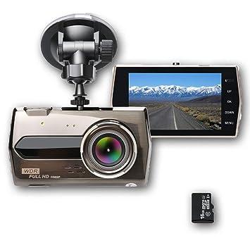 SHISHUO Cámara de Coche - Pantalla IPS Grande de 3.6 Pulgadas 1080P Dash Cam de Registrador