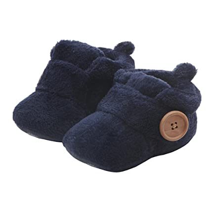 52f589f9c571 Amazon.com   Morrivoe Baby Boys Girls Winter Warm Round Toe Flat Slippers  Toddler Soft First Walkers Shoes   Sports   Outdoors