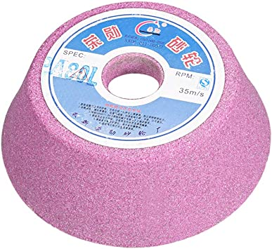 uxcell 4-Inch Cup Grinding Wheel 60 Grits Pink Aluminum Oxide PA Abrasive Wheels