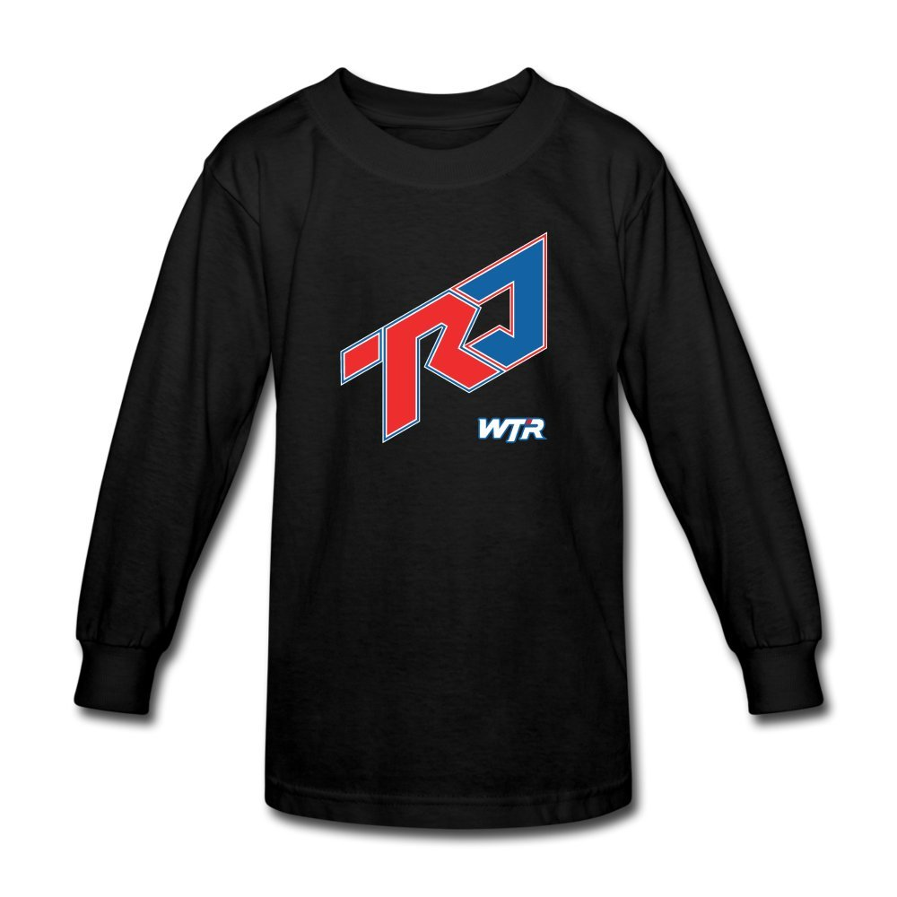 ATHLETE ORIGINALS Little Boys' Long Sleeve T-Shirt Wtr Diagonal by Ricky & Jordan Taylor L Black