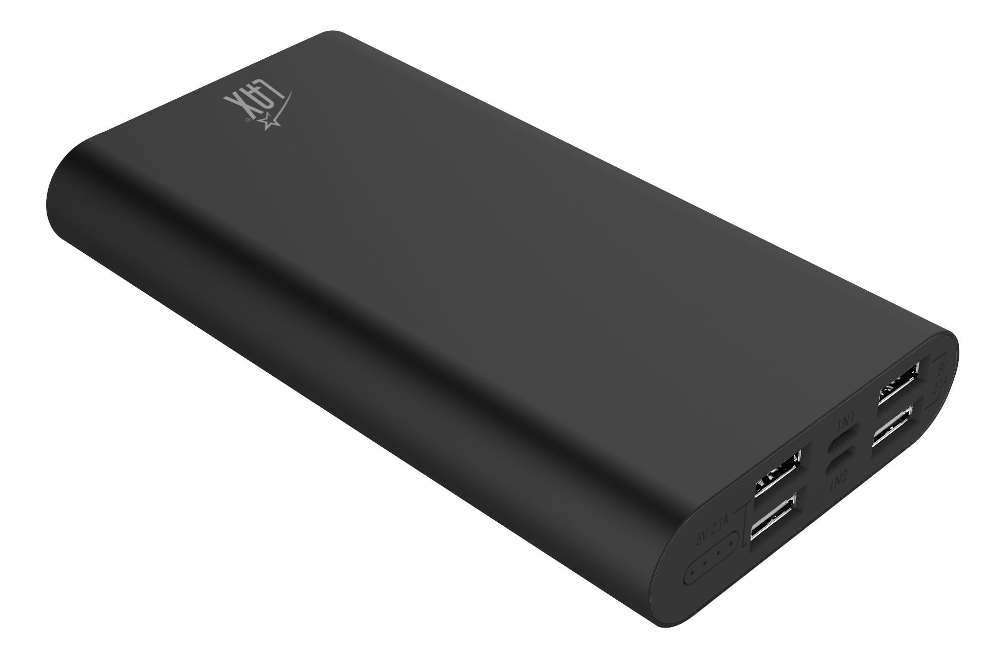 LAX Pro 16800 Portable Charger Battery Backup, 16800mAh External Battery with 4 High Speed Charging 2.1A USB Ports for iPhone, iPad, Samsung Galaxy, Android and other Smart Devices (Black)