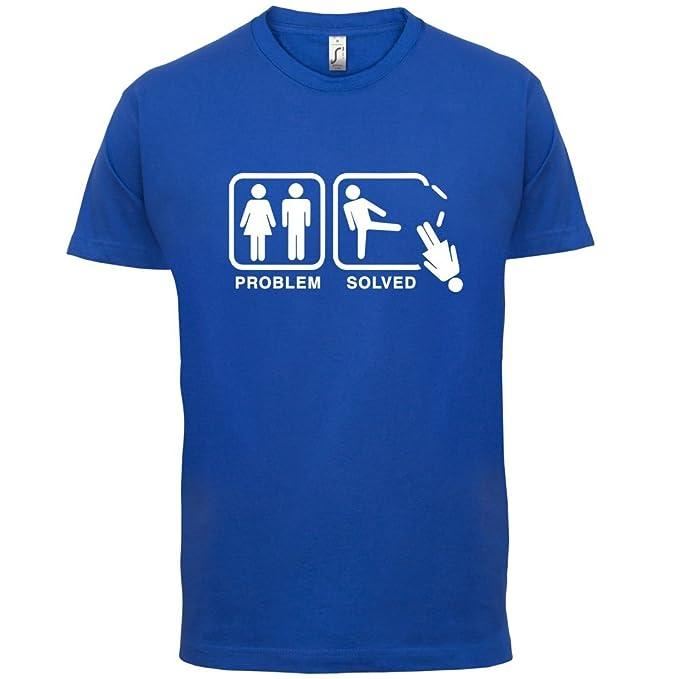 Problem gelöst - Keine Frau - Herren T-Shirt - 13 Farben: Amazon.de:  Bekleidung