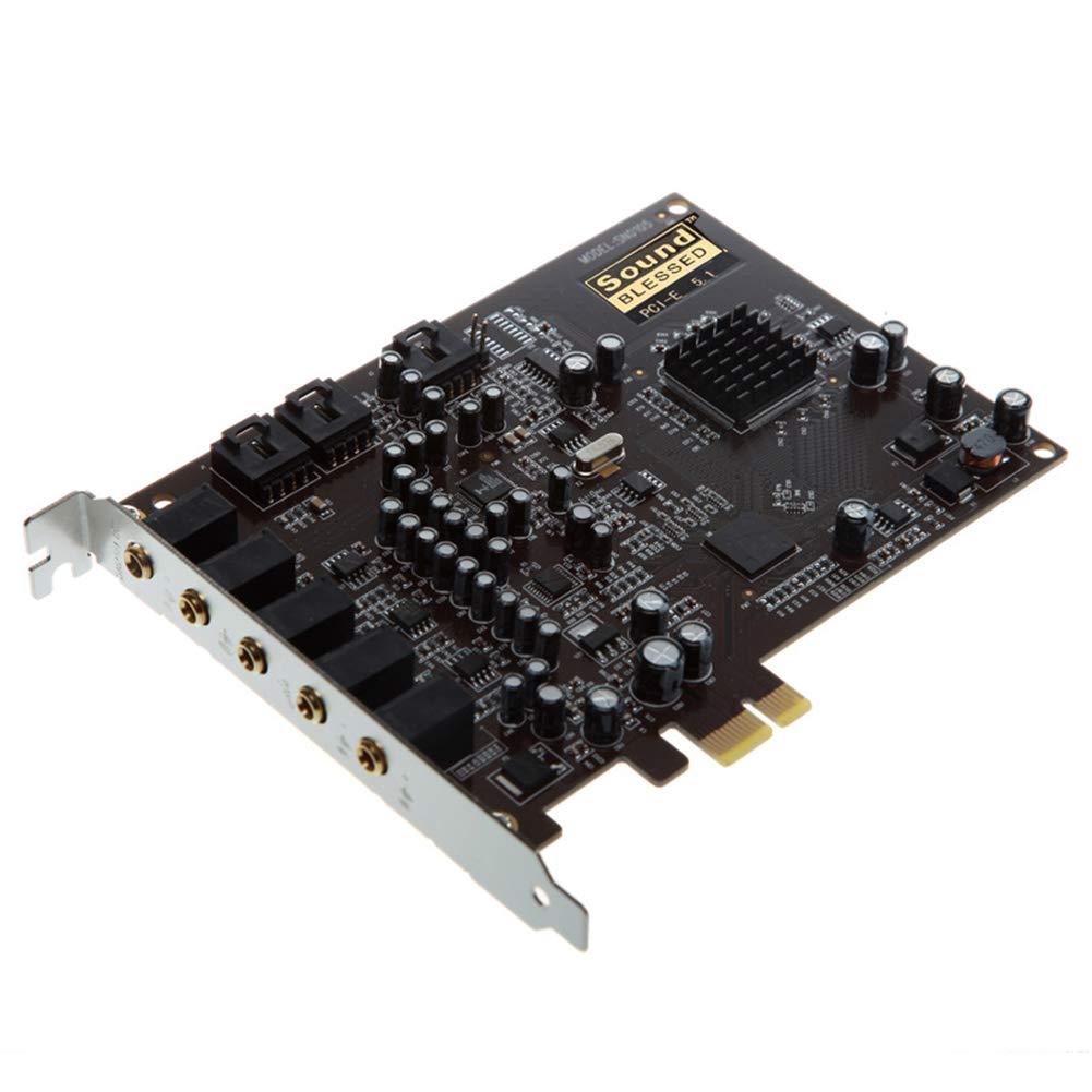 Yeshai3369 PCIe Tarjeta de Sonido, PC PCI-E 0105 Chip 501 3D ...