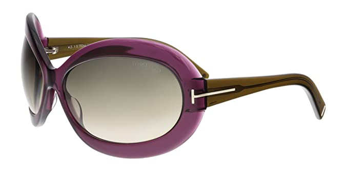 eb62666e043 Tom Ford FT0428 81T EDIE Purple Oval Sunglasses at Amazon Women s ...