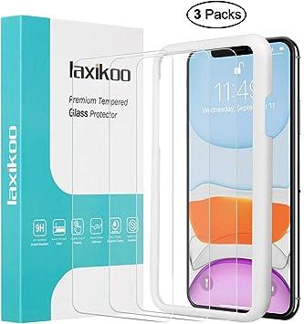 ,Cristal Templado iPhone 11//iPhone XR -Anti-Burbujas 9H Dureza,Anti-despegamientos Protector de Pantalla Compatible con iPhone 11 //iPhone XR Ultra-Transparente,Vidrio Templado iPhone 11 2 Piezas