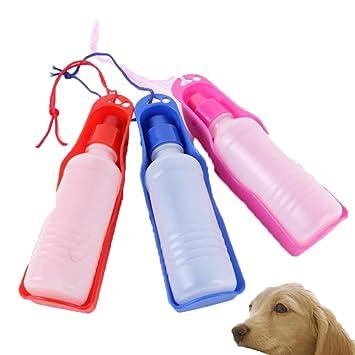 FOVIUPET Botella de Agua Portátil para Mascotas, para Viajes, Taza de Bebida, comedero