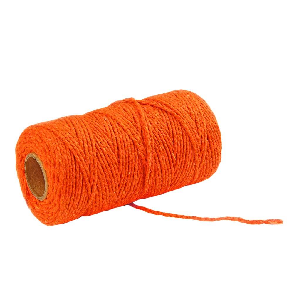DaoRier 100m Bastelschnur Baumwollschnur Baumwollkordel Dekokordel f/ür B/äcker Bindf/äden Geschenkverpackung Dekoration Orange