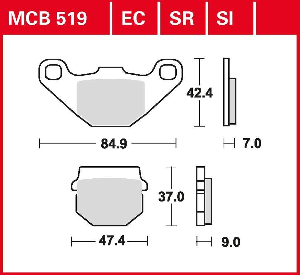 RD17C 03-04 hinten Bremsbelag TRW Sinter Offroad Belag RM 85 L 19//16 Zoll