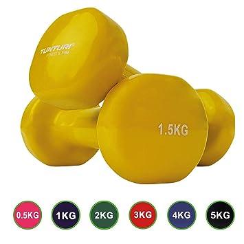 Tunturi 14TUSFU150 Mancuernas, Unisex Adulto, Amarillo, 1.5 kg: Amazon.es: Deportes y aire libre