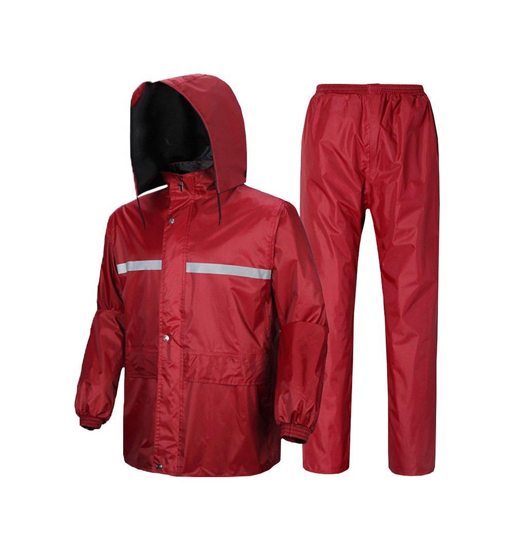 Mj-cj Rainsuit- Adult Waterproof Full Body Raincoat Rain Pants Split Suit (Size : XXL)