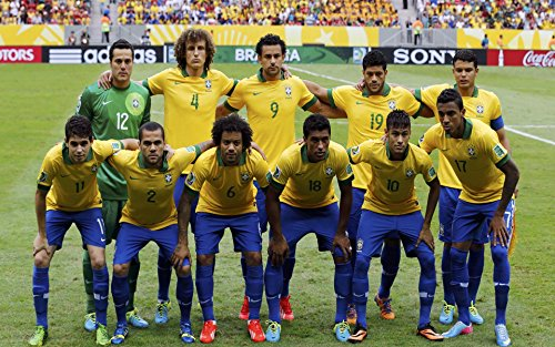 Price comparison product image Brazil National Team Poster 36x24 Glossy