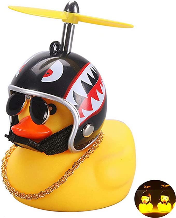 Car Bicycle Decorate Lovely Small Yellow Duck With Sound Helmet Outdoor Sports