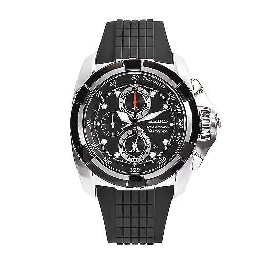 Seiko Watches SNAA93P2 - Reloj de Pulsera Hombre, Caucho, Color Negro: Amazon.es: Relojes