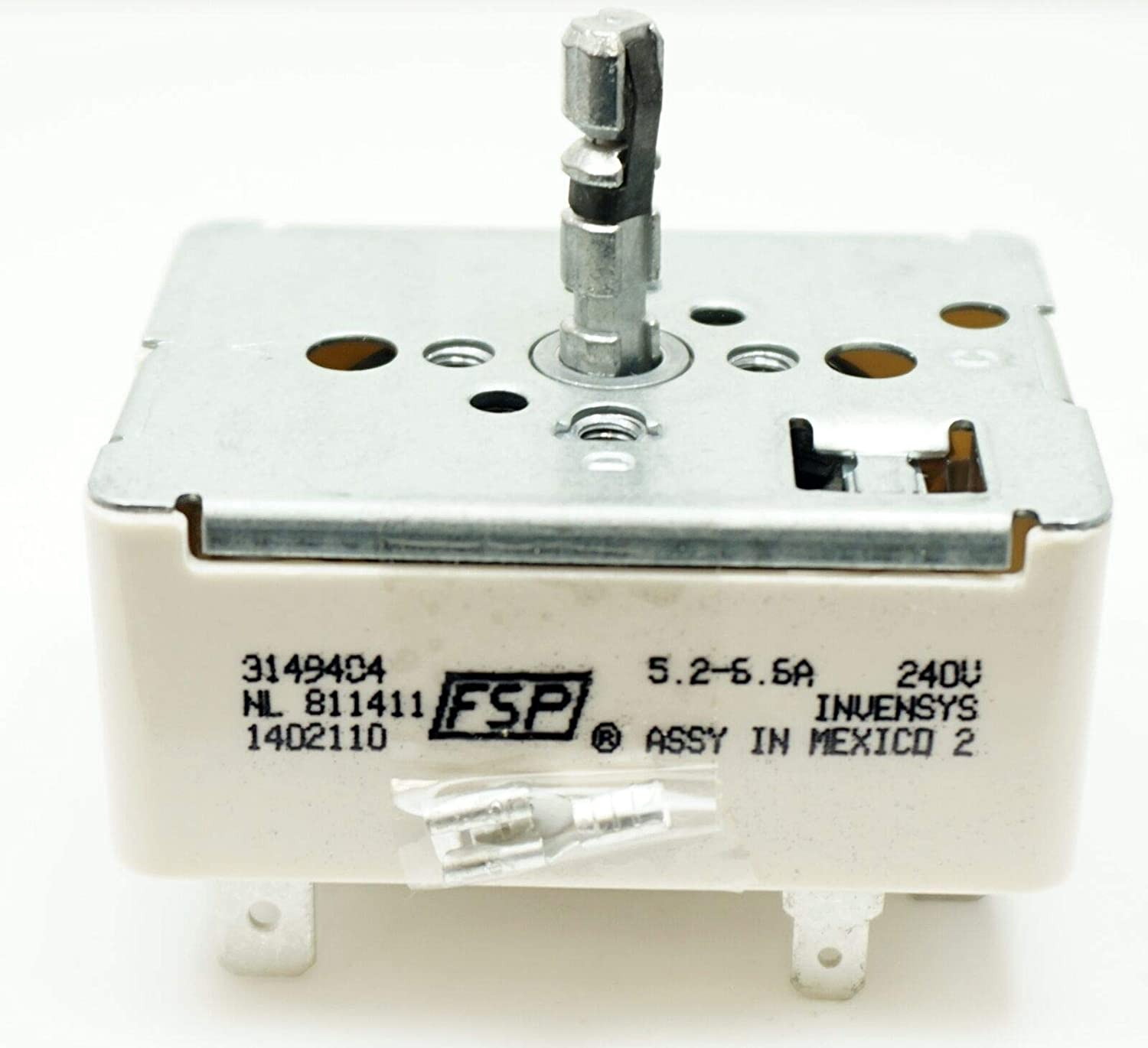 (RB) ES9404 Surface Element Infinite Switch For Whirlpool 3149404, 3148951, PS336993