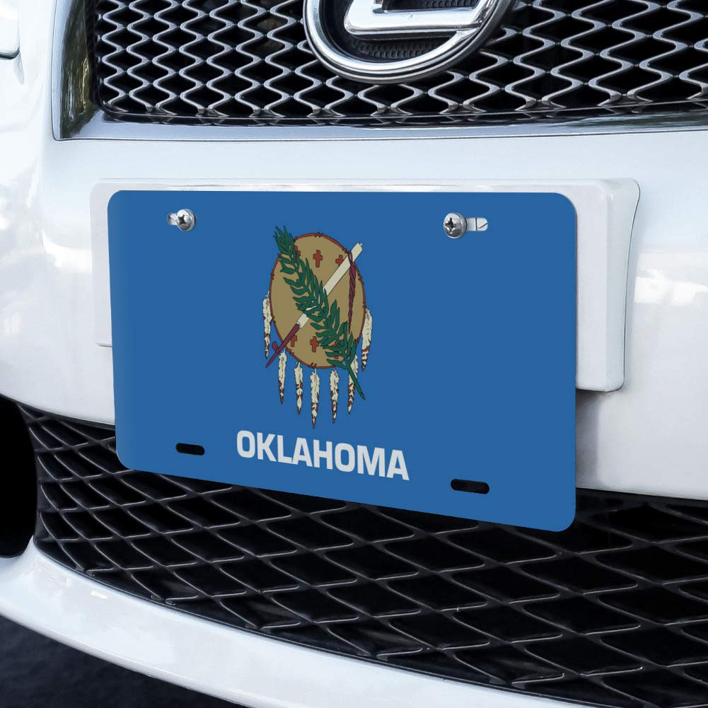 Oklahoma State Flag Novelty Metal Vanity License Tag Plate Graphics and More