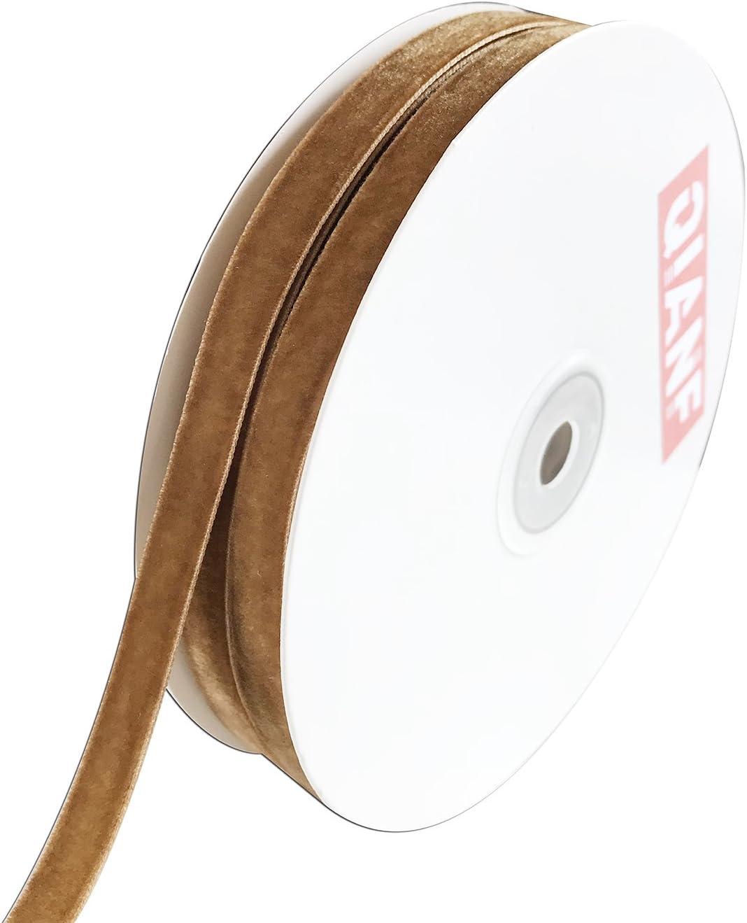 QIANF Velvet Ribbon White 1 1//2-Inch by 25-Yard Spool