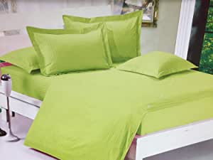 Dongying King Size, Cotton,solid Pattern, Green - Bedding Sets