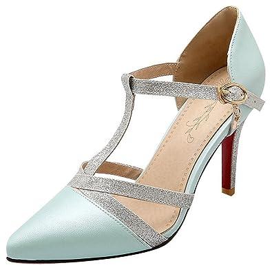 fcb2d2df21b7e9 Artfaerie Damen Pointed Toe High Heels Sandalen mit Schnalle und Stiletto T- Spange Riemchen Pumps Elegante Schuhe  Amazon.de  Schuhe   Handtaschen
