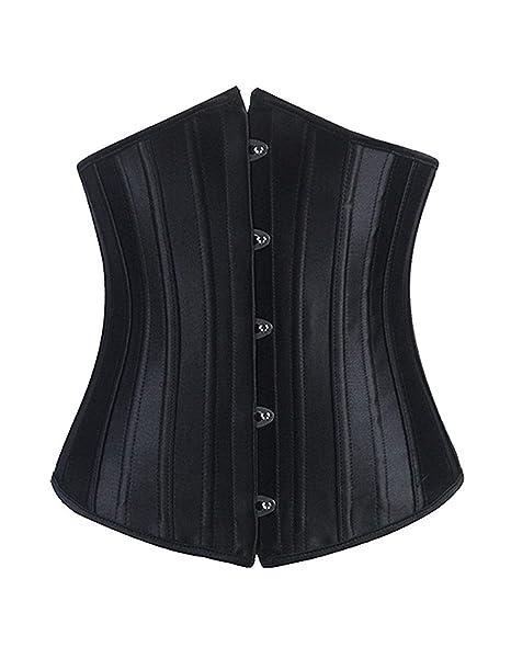 49f9900efe2 Burvogue Women s 26 Steel Boned Underbust Waist Training Corset   Amazon.co.uk  Clothing