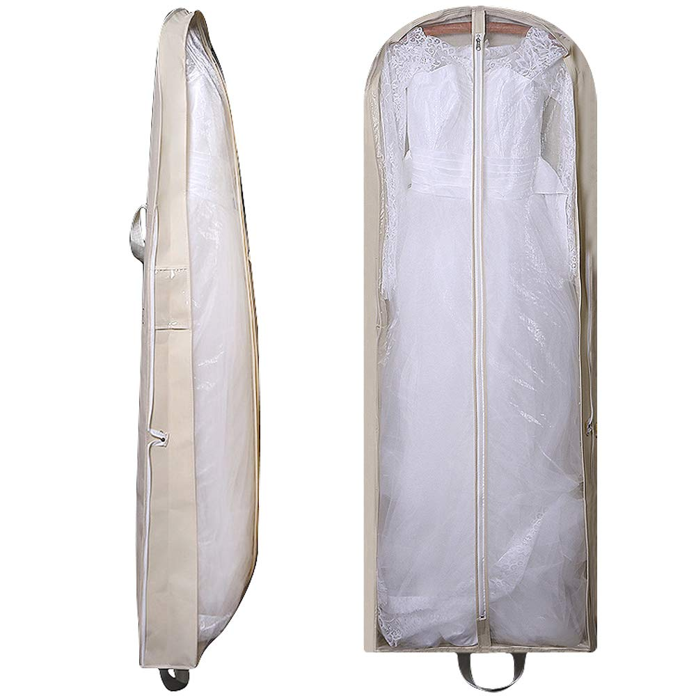 extra large foldable travel hanging luggage with pockets for womens 63 Bridal Wedding Gown Dress Garment Bag 5.9 Gusset