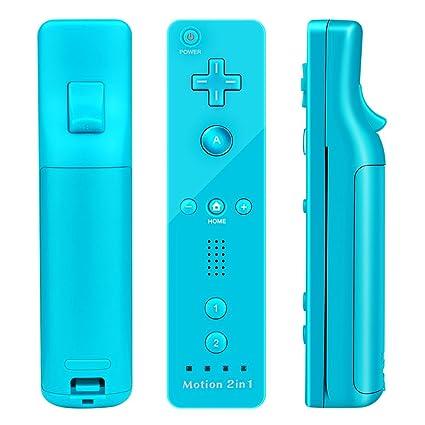 Mandos Motion Plus, Prous XW15 Nintendo Wii y Nunchuck con vibración integrada. Mando de juego con Bluetooth, funda de silicona y correa de muñeca para Wii ...