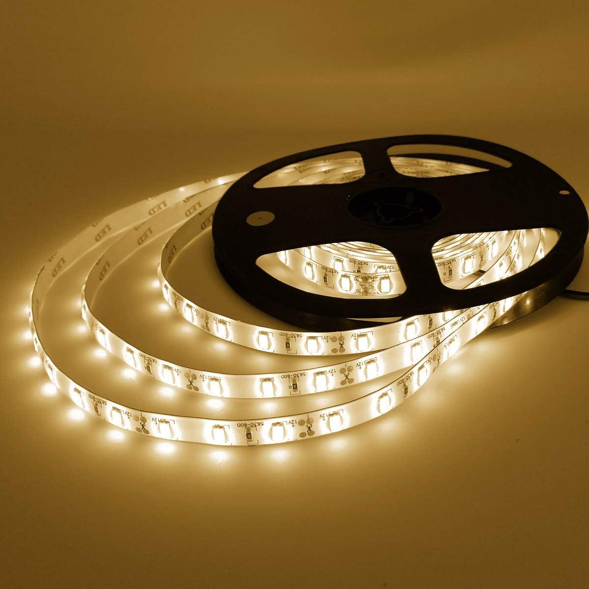Details about  /16Ft 5M 3528RGB waterproof SMD 300LED Light Strip Flexible Ribbon Tape e 267