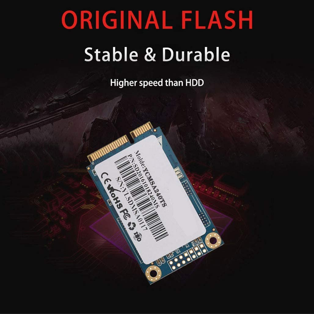 HWENJ SSD MSATA Internal Solid State Drive High Performance Hard Drive for Desktop Laptop SATA III 6Gb//s 256GB,128GB,128G,256G,512G1T,2T with Cache,TLC Chip